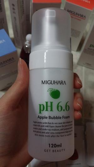 미구하라 애플 버블 폼 pH6.6 클렌징할때마다 기분이 좋아요^^