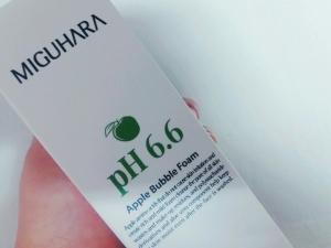 미구하라 애플 버블 폼 pH6.6 좋아요!
