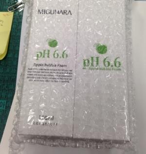 미구하라 애플 버블 폼 pH6.6 좋아요
