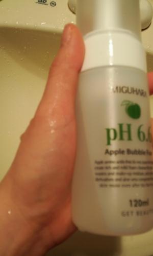 미구하라 애플 버블 폼 pH6.6 버블폼만족도굿!