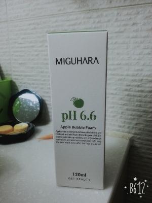 미구하라 애플 버블 폼 pH6.6 매일 아침에 만나는 애플폼~~