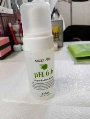 미구하라 애플 버블 폼 pH6.6 꾸준히 쓰고 있어요